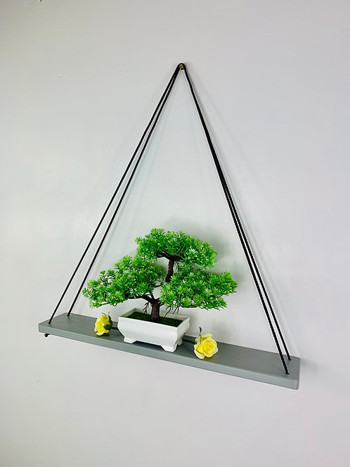 Long Single Tier Hanging Shelf - Grey