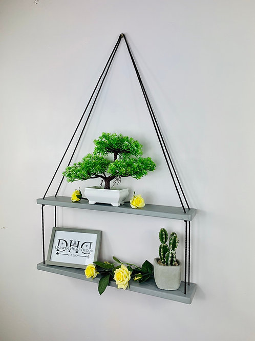 Long 2 Tier Hanging Shelf - Grey