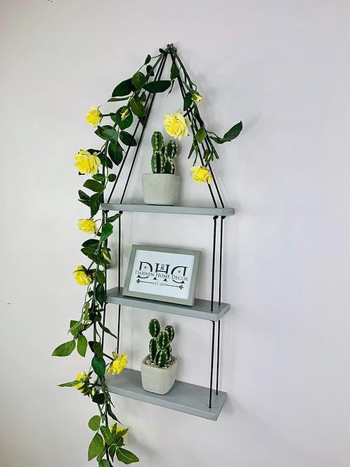 3 Tier Hanging Shelf - Grey