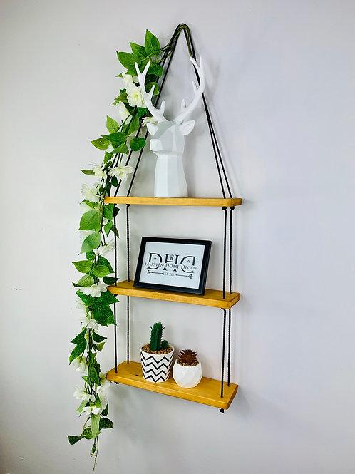 3 Tier Hanging Shelf - Light Oak
