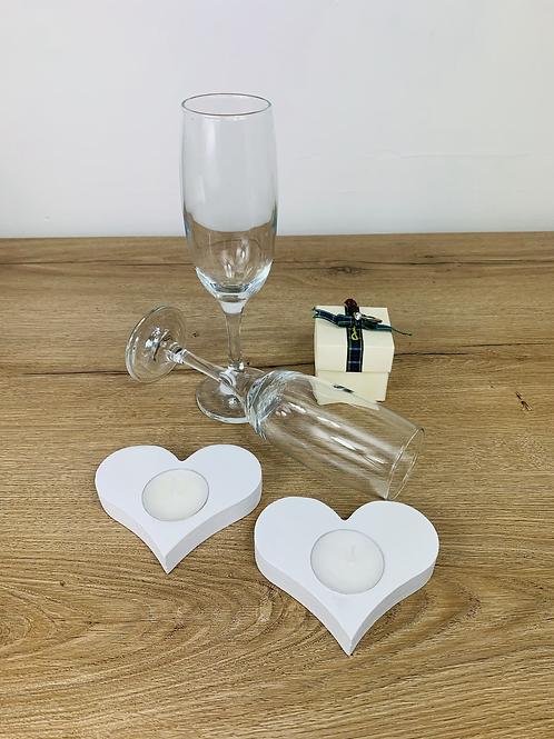 2 Heart Wedding Package - White