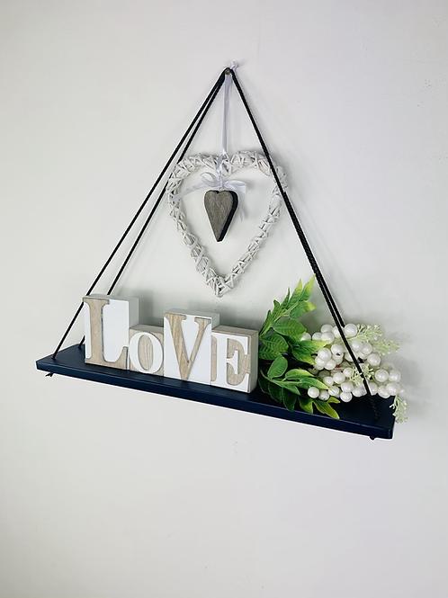 Long Single Tier Hanging Shelf - Dark Blue