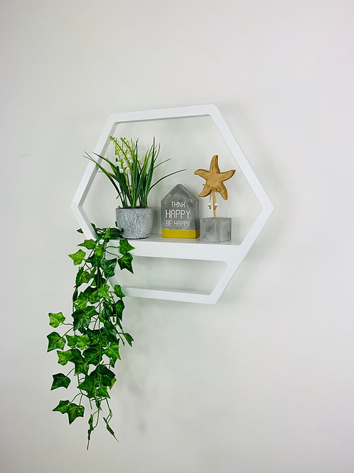 Hexagon Shelf - White