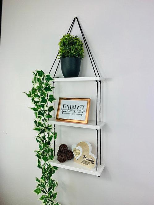 3 Tier Hanging Shelf - White