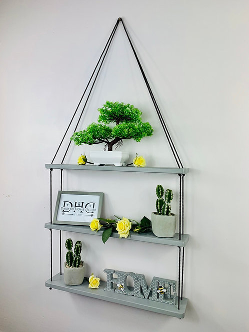 Long 3 Tier Hanging Shelf - Grey