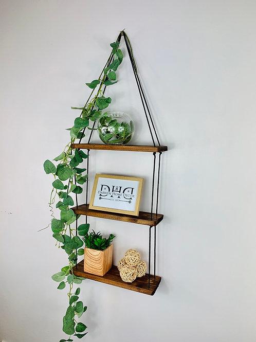 3 Tier Hanging Shelf - Dark Oak