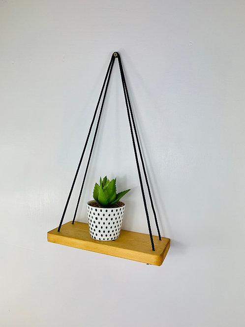 Single Tier Hanging Shelf - Light Oak