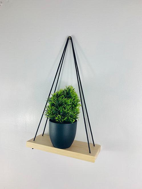 Single Tier Hanging Shelf - Natural