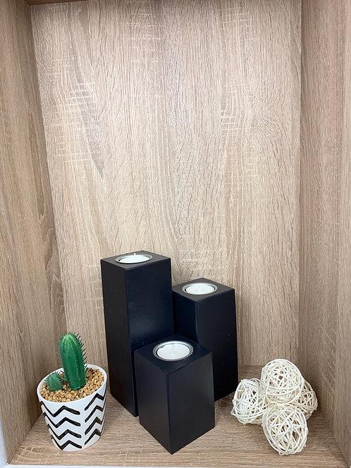 Tea Light Holders (Set) - Black