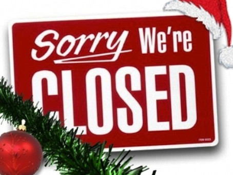 We're now closed..