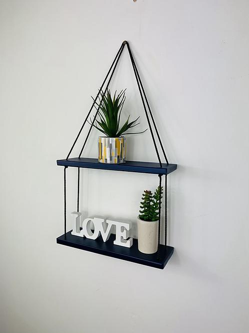2 Tier Hanging Shelf - Dark Blue
