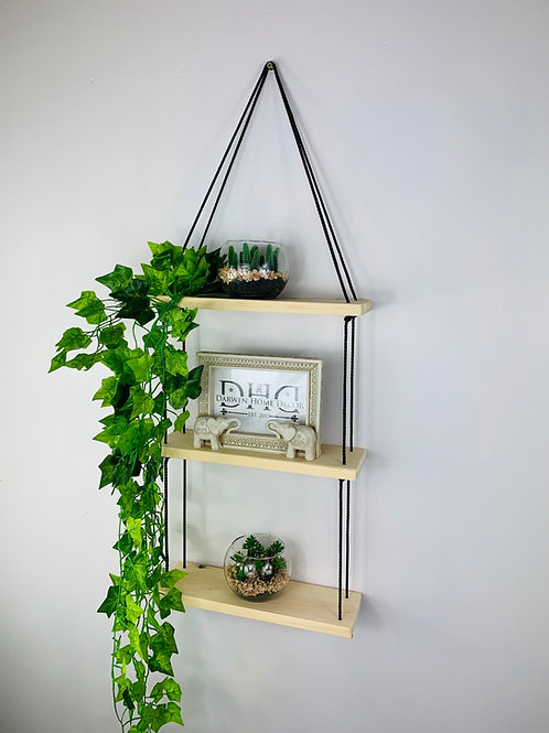 3 Tier Hanging Shelf - Natural