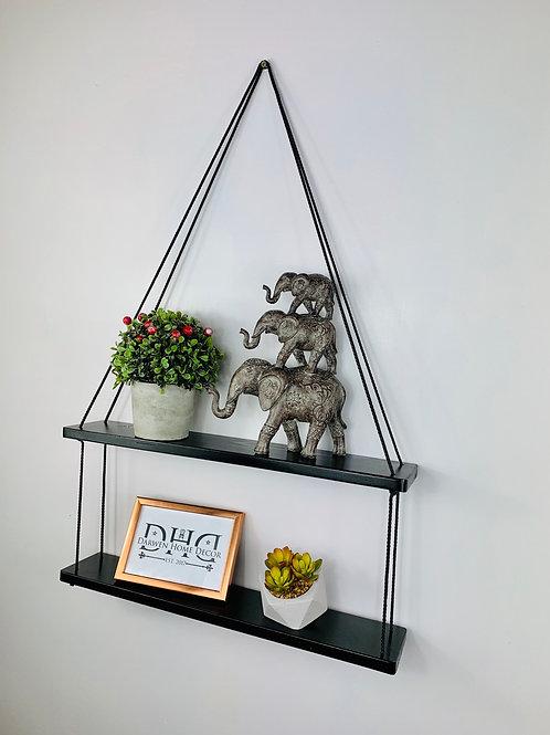 Long 2 Tier Hanging Shelf - Black
