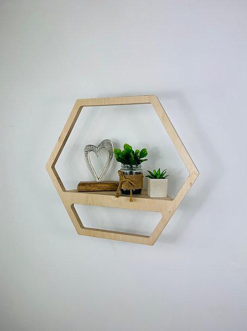 Hexagon Shelf - Natural
