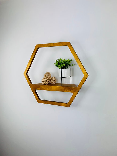 Hexagon Shelf - Light Oak