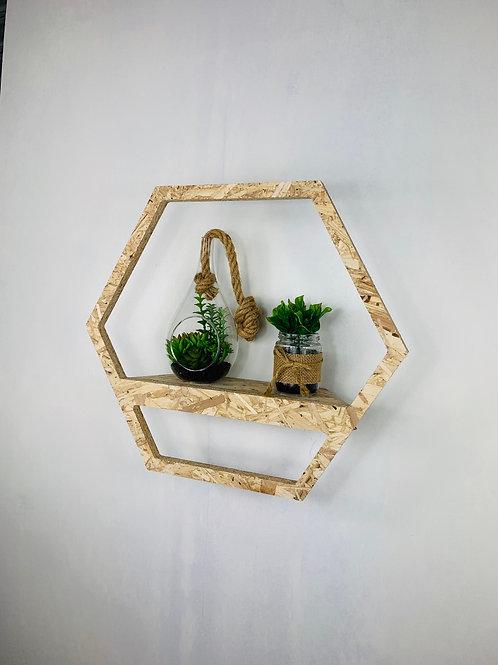 Hexagon Shelf - Woodchip