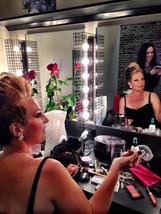 Carita Farrer Spencer backstage