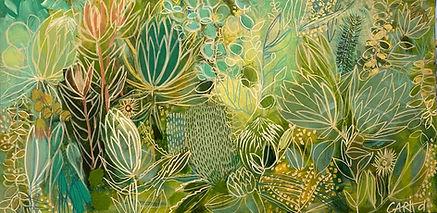 Tanja In Green (commission) 50cm x 100cm