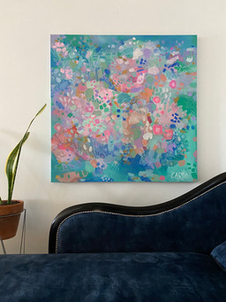 Coral Island with chaise (commission SOLD)