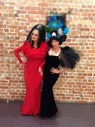 The Dame & Christine Johnstone backstage at The Judith Wright Centre