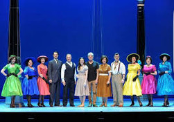 The cast of Ladies In Black with composer Tim Finn