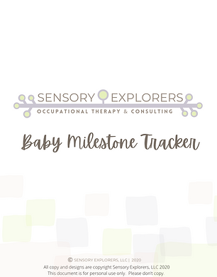 cover page of the baby milestone tracker pdf printable