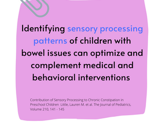 Sensory Processing and Constipation
