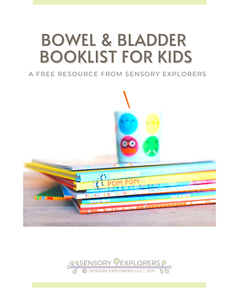Cover page of the bowel and bladder book list for kids.