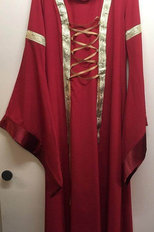 Robe médiéval avec capuchon Gr. L