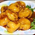 Фаршированный мясом баклажан в кляре в устричном соусе 350г