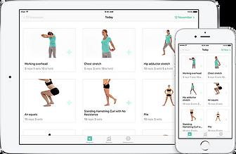 PhysiApp-2 online oefenprogramma in app.
