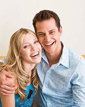 Lachend Paar