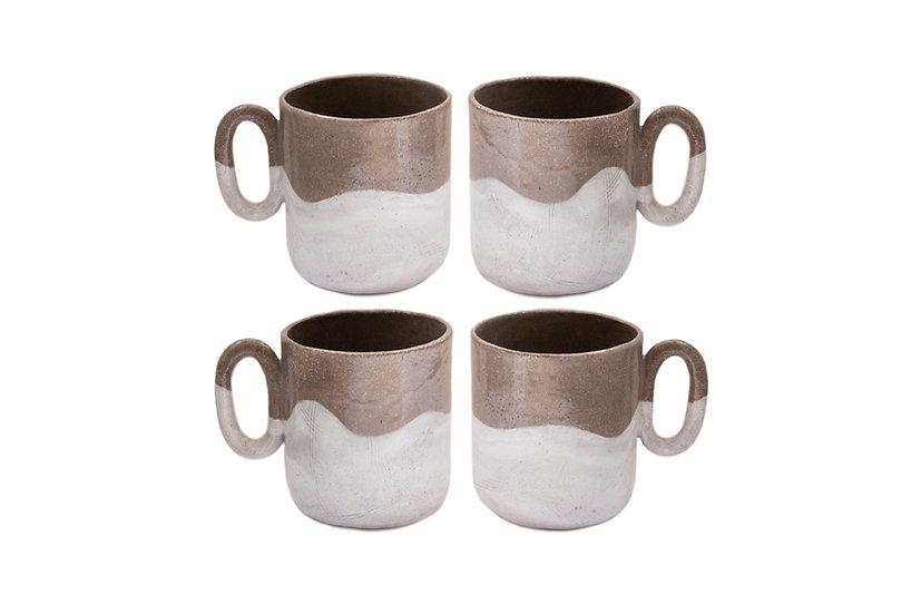 Set of Four Babe Mugs