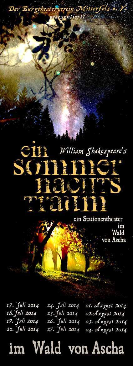 Sommernachtstraum Plakat 2014