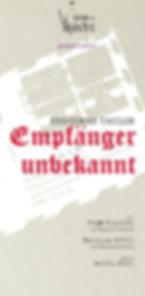 Mathias Noell, Sepp Fischer, Anika Kühl, Theater der Vaganten-Regensburg