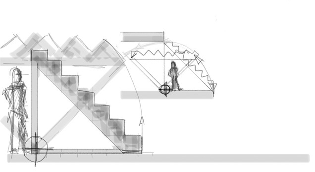 Klapptreppe Stagedesign 2