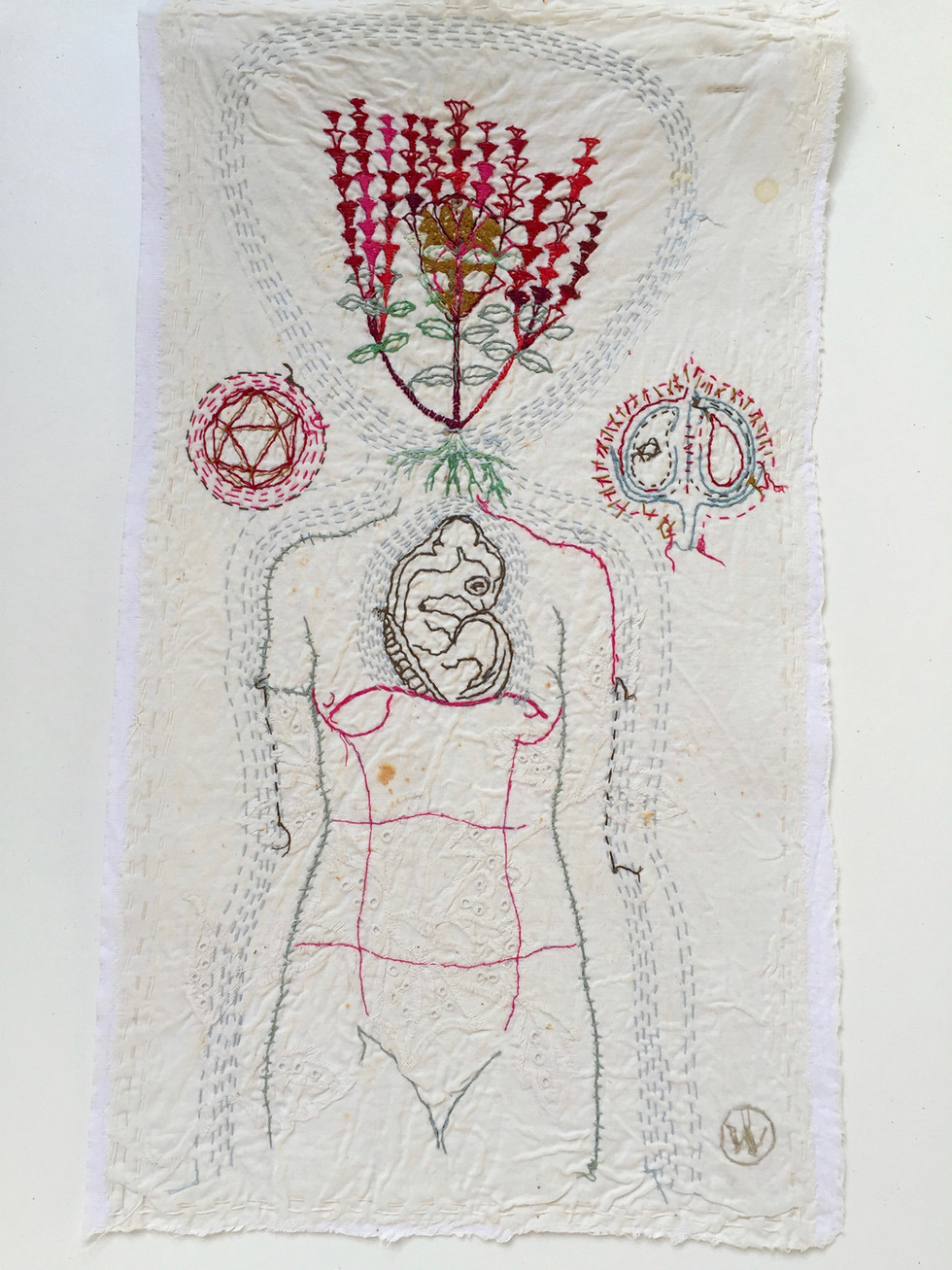 willemien de villiers | woman with turtle | SOLD