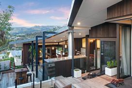 Garden Terrace Outside Tui, Pukeko and Fantail Room   Newton Heights B&B