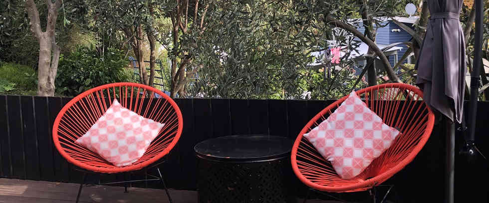 Fantail Room Outdoor Seating | Newton Heights B&B