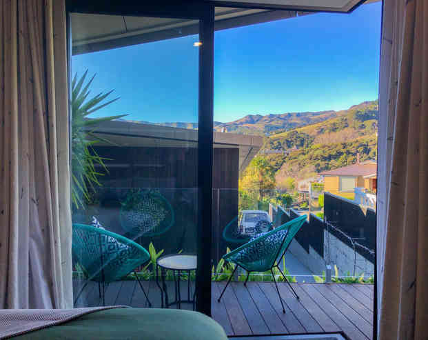 Bellbird Room View and Outdoor Seating   Newton Heights B&B