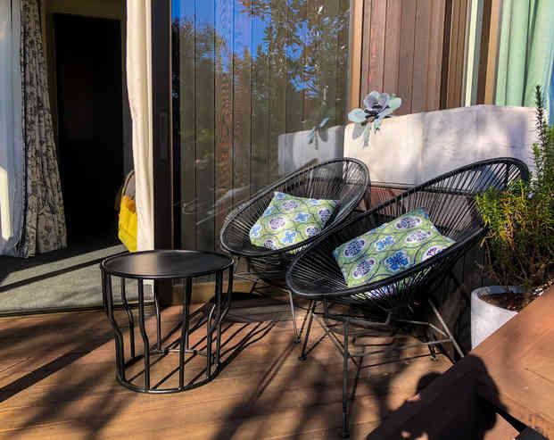 Tui Room Outdoor Seating | Newton Heights B&B