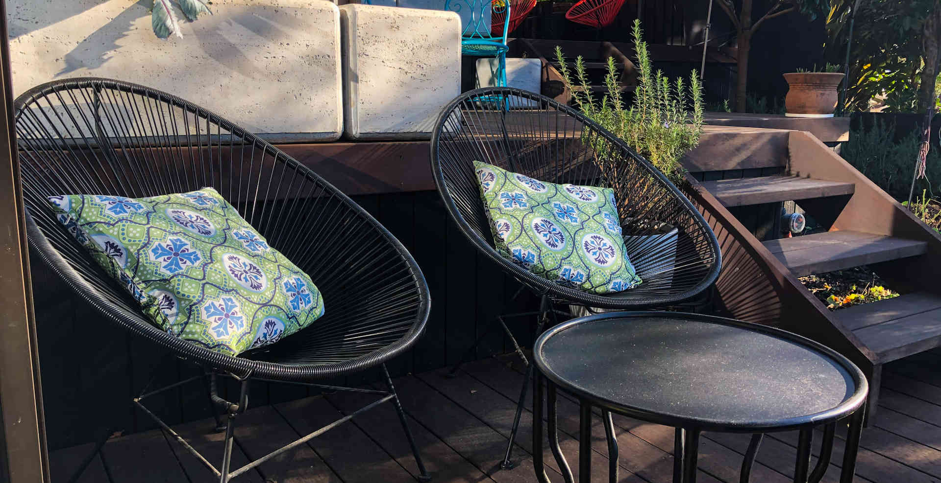 Tui Room Outdoor Seating | Newton Heights B&B
