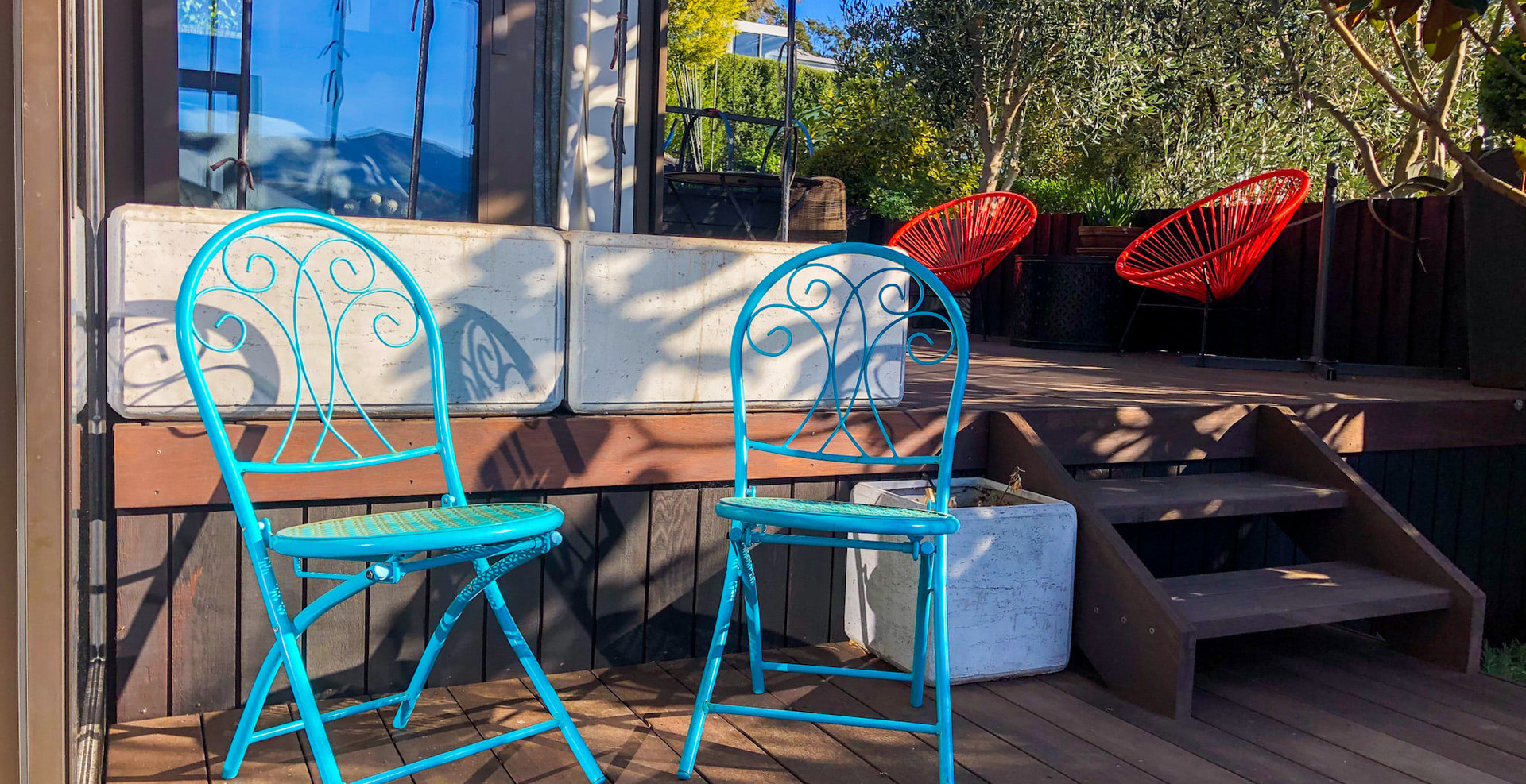 Pukeko Room Outdoor Seating | Newton Heights B&B