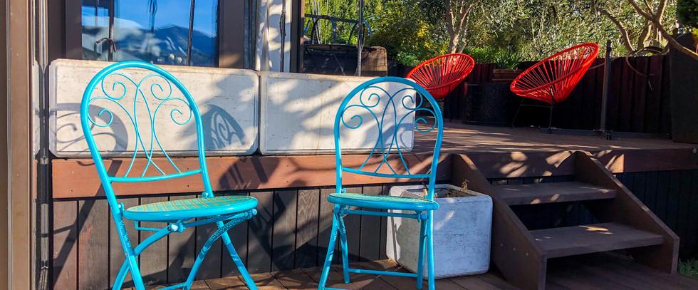 Pukeko Room Outdoor Seating | Newton Heights B&B