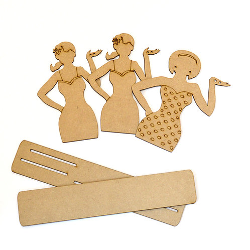 Okay, girls! MDF display stands