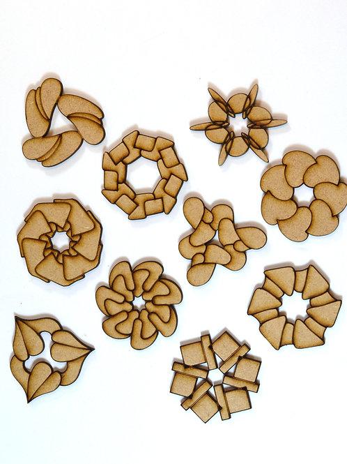 Dahlia MDF rosettes