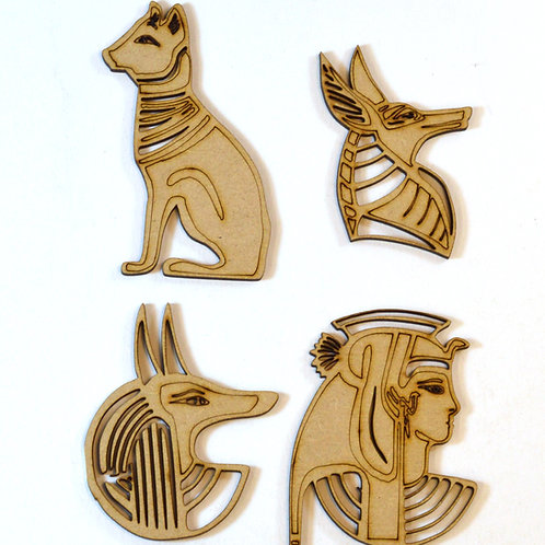 Egyptian figures in MDF