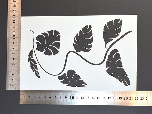 Jungle vine Mylar stencil