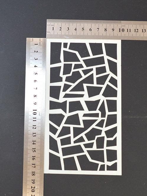 Crazy paving Mylar stencil