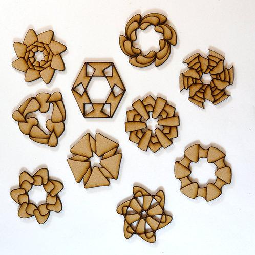 Camelia MDF rosettes